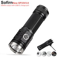 SOVIRN SP33V3.0 3500LM мощный светодиодный фонарик Type C USB аккумуляторной горелки Light Cre XHP50.2 с индикатором питания