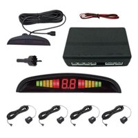 Car Rear View Cameras& Parking Sensors 4 Black LED Display Sensor 22mm Voice Reverse Backup Sound Alert Indicator Probe System