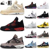 Nike Air Jordan Retro 4 Jumpman 4 4s Cool Gray Hommes Femmes Chaussures de basket-ball militaire Bleu New Bred Neon SatinJordanRétro sport Chaussures de sport Formateurs