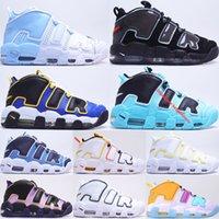 Sky Blue Plus Uptempos Chaussures de basket Basket Basket Haute Qualité Volume maximum Denim Light Aqua Peace Love Mens Femmes Sneakers