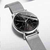 ريترو الرجال مشاهدة الكوارتز تصميم فاخر الأعمال التجارية الذكور الساعات شبكة حزام ساعة اليد هدية الحديثة relogio masculino المعصم