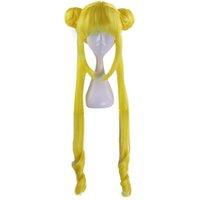 Сейлор Луна Цукино Усаги длинные вьющиеся блондинки двойной хвост синтетический парик косплей для костюма девушки