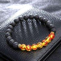 7 Chakra Gemstone Bracelet Naturel Stones Stretch Bracelets Yoga Reiki Perles Perles de prière chanceux Bijoux Bijoux Valentin Cadeau Noël