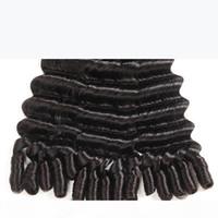 2018 Dernier tante Funmi Cheveux Vierge Péruvien Hair Weave Double Drawn Bouncy Romance Curls Extensions de cheveux Humains 3 Bundles Nigeria Fashion