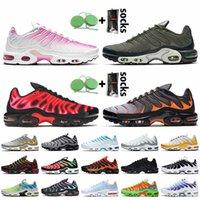 Nike Air Max Plus Tn Plus Büyük Beden 12 Erkek Koşu Ayakkabısı Kadın Eğitmenler Pembe Solmaya Alacakaranlık Marsh Üniversitesi Kırmızı Gri Turuncu Siyah Beyaz Spor Sneakers