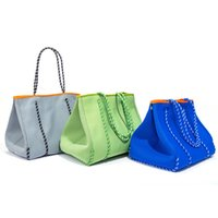 Breathable perforated diving material beach bag large capacity women's One Shoulder Tote Bag Mommy bagE095
