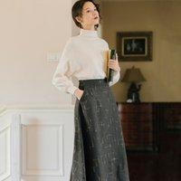 Women's Tracksuits Office Ladies Elegant Two Piece Sets Sweet Knit Sweater Woolen Skirt Two-piece Suit Korean Style Women Winter Fashion