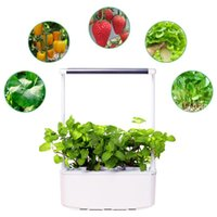 Planters & Pots 3 Plant Indoor Hydroponics Growing System Garden Starter Kit With Led Grow Light Smart Planter For Home Kitchen