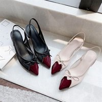Dress Shoes Fashion Thin Heel Sandals Women Pointed Toe Slingback For Party Slip On Mule Elegant Pumps