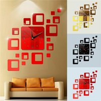 Wall Clock Diy Acrylic Mirror Surface Sticker Modern Art Design Office Home Decor Clocks