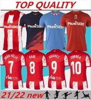 21/22 Joao Felix Suarez Home Away Soccer Jerseys 2021 2022 마드리드 Camisetas de Fútbol 사울 Diego Coke Trippier Koke 축구 셔츠