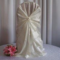 Chair Covers WedFavor 100pcs Universal Self Tie Satin Wedding Wrap For Banquet El Party Decoration