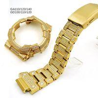 316L Edelstahl Metallband Uhrenzusammenhänger GA110 GA120 GA140 GD100 GD110 GD120 Fleck Großhandel verschiedene Modelle Uhren Bands