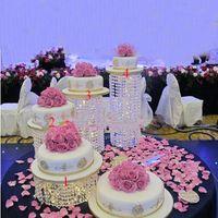 3pcs-6pcs cristal de qualité cristal transparent de gâteau acrylique stand romantique décoration de mariage Autre cuisson