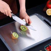 Dupla face 304 bloco de aço inoxidável antibacteriano anti-mofo placas de corte de desbastamento ferramentas de carne vegetal