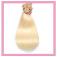 Peruvian Human Virgin Hair Extensions 10-30inch Blonde 613# Straight Double Wefts Wholesale Dyed Products