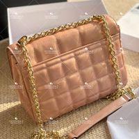 Klassische Umhängetaschen Stilvolle Multicolor Dame Postman Tasche Leder Langkette Geldbörse Plaid Slant Shopping Casual Brieftasche