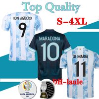 20 21 Argentina Home Messi Higuain Jersey 2020 2021 Homens Jerseys di Maria Lo Celso Martinez Correa Camisa S-4XL