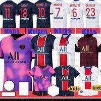 Jersey di calcio Paris SaintCamicia da calcio Germain 7 Mbappe Maillot de Foot 10 Neymarjr Men's 18 Icardi Kids Kit 11 di Maria Uniformi