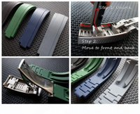 20mm new soft durable waterproof watch strap for ROL SUB GMT YM with slippage silver original steel clasp