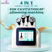 Promotion vacuum body shaping machine RF slimming face lifting 80K ultrasonic cavitation skin care salon spa equipment