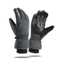 Лыжные перчатки Loogdeel Водонепроницаемая ткань Пальчик Сенсорный экран Добавить мягкий бархатный теплоизоляционный запястья.