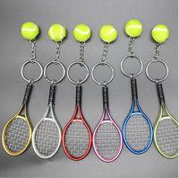 시뮬레이션 테니스 가방 펜던트 열쇠 고리 보석 부품 볼링 공 열쇠 고리 교수형 장식 공예 선물 자리 도매