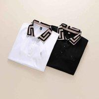 Printemps luxe ITALIE T-shirt T-shirt Designer Spolo Shirts High Street Broderie Jarretière Snakes Petite abeille Imprimer Vêtements Mens Marque Polo Shir