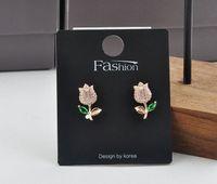 2021 paper Jewelry card packaging black spot Earrings cardboard Korean high grade Necklace PVC 002