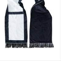 Sublimation Scarves Blanket with Tassels Double Sided Scarf for Thermal Transfer Towel Wholesale Blanks GWC7043