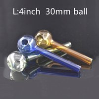 الملونة 10 سنتيمتر كبيرة 30 ملليمتر الكرة بيركس الزجاج الزجاج الموقد جودة الأنابيب شفافة كبيرة أنبوب النفط أنبوب الأظافر للتدخين