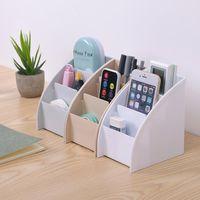 Plastic TV Remote Control Storage Holder Mobile Phone Stand Washable Desktop Case Home Office Boxes 1Pcs Hooks & Rails