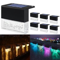 LED solar Lights outdoor Waterproof Deck Light Stair Fence Lamp decoration for Patio Stairs Garden Yard