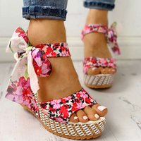 Beans Sandals Flower Wiggen 's Platform Sho Women Lace Up Ladi Peep Toe Fashion High Heels Shoe 2021