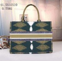 女性ハンドバッグバッグレディース大容量ブックトートデザイナーファッションレトロキャンバスファッションプリント模造イミテーション刺繍多色シングルパターンバッグ