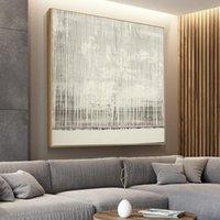 Dipinti Pittura astratta Canvas Art Parete Acrilico Linea Acrilico Decorazioni per la casa contemporanea Poster