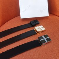 Belt Men's European and American Style Smooth Buckle Cowhide Belts Simple Atmosphere Fashion Women Accessories