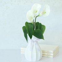 1pc / lot PU Real Touch Calla Lily Fiori Artificiali Fiori Bouquet Vasi per la decorazione della casa decorazione della decorazione di nozze decorazione di nozze fiore decorativo corone