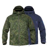 남성용 군사 위장 양털 전술 재킷 남성 방수 Softshell 윈드 브레이커 겨울 육군 후드 코트 사냥 옷 재킷