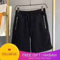 Chao Ch Crosin Shorts Sanskrit Embroidery Cross Leather Lovers Beach Pants Casual Sports Capris