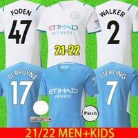 21 22 مانشستر لكرة القدم الفانيلة 2021 2022 ج. جيس سيتي الاسترليني جوندوجان مهرز دي بروين لكرة القدم قمصان Foden Man Jersey Kids Kit