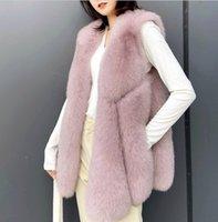 Women's Vests Winter Fox Fur Coat Oversized Sleeveless Jacket Female Warm Vest Fashion Casual Artificial Fur Vest