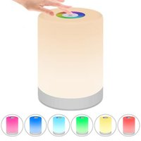 Night Lights Rechargeable Smart LED Touch Control Induction Dimmer Intelligent Bedside Lamp Dimmable RGB Color Change With Hook In Stock