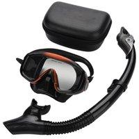 Diving Masks Anti-fog Scuba Mask Set Underwater Swimming Silicone Mask+Breathing Tube Snorkeling Equipment