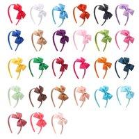 Grogren Kurdele Yaylar Elastik Hairband Moda El Yapımı Ilmek Bebek Kız Saç Hoop Çocuk Şapkalar Giyim Dekorasyon
