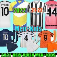 2021 2022 maillot de football Juventus RONALDO DYBALA MORATA CHIESA McKENNIE maillot de football 20 21 JUVE quatrième 4ème uniformes HUMANRACE