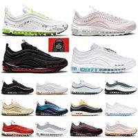 Zapatos Nike Air Max Airmax 97 Auténticas zapatillas deportivas correr hombres mujeres OFF White MSCHF x INRI Jesus UNDEFEATED Have a Nike day Zapatillas de hombre para mujer