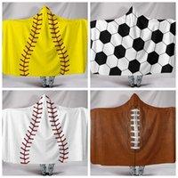 الأطفال البيسبول مقنعين بطانية كرة القدم منشفة شاطئ شيربا اصطف الرياضة تحت عنوان الكرة اللينة swaddling بطانية 150 * 130 سنتيمتر