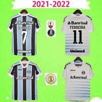 2021 2022 Gremio Futbol Formaları 21 22 Jersey Geromel Luan Kannemann Miller Kaleci Üniformaları Kitleri Eve Uzakta Üçüncü Futbol Gömlek Camisetas de Futbol S-2XL