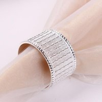 Napkin Rings 6PCS Zinc Alloy Die-Casting Bead Curtain Ring Section Buckle For El Kitchen Golden Silver Table Decoration